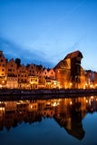 Old Town of Gdansk at Night Stock Photo