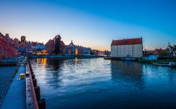 Old town in Gdansk at night. Poland Royalty Free Stock Images