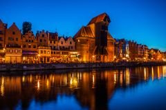 Old town in Gdansk at night. Poland Royalty Free Stock Photos