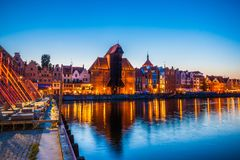 Old town in Gdansk at night. Poland Royalty Free Stock Image
