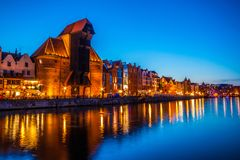 Old town in Gdansk at night. Poland Royalty Free Stock Photo