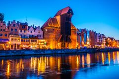 Old town in Gdansk at night. Poland Stock Image