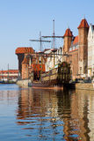 Old town , Gdansk. Old town over river Motlawa, Gdansk ,  Poland Royalty Free Stock Photography
