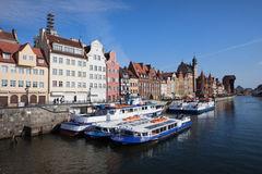 Old Town of Gdansk in Poland Stock Photo