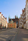 Old town of  Gdansk, Poland. Old town of  Gdansk with st Mary's church, Gdansk, Poland Royalty Free Stock Photo