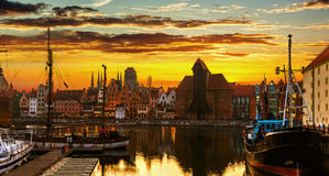 The Old Town in Gdansk, Poland Stock Photography