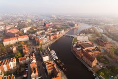 Old town of Gdansk, top view Royalty Free Stock Photos