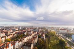 Old town of Gdansk, top view Royalty Free Stock Photography