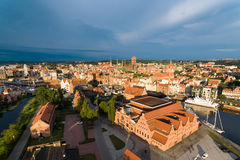 Old town of Gdansk, top view. Sunrise over old town of Gdansk, top view Royalty Free Stock Images