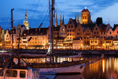 Old Town of Gdansk at Twilight Stock Images