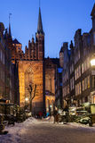 Old town of Gdansk in winter scenery Stock Photography