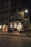 Old town Geneva by night Stock Photography