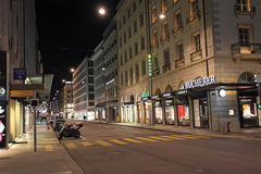 Old town Geneva by night Royalty Free Stock Photography