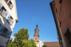 Old town of Gengenbach with town church saint Marien Royalty Free Stock Images