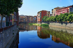 Old town of Girona, Catalonia, Spain Royalty Free Stock Photo