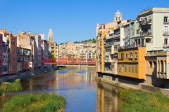 Old town, Girona, Spain Stock Image