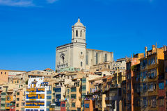 Old town, Girona, Spain Stock Images