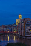 Old town of Girona, Spain Stock Photography