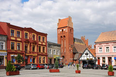 Old Town in Golub-Dobrzyn Royalty Free Stock Images