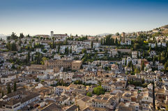 Old town of Granada, in Spain. Aerial view of old center of Granada, Spain Royalty Free Stock Photography