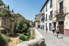 Old town of Granada, Spain Royalty Free Stock Images
