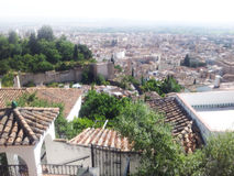 Old town of Granada stock photos