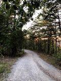 Old town gravel road royalty free stock images