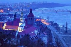 Old town of Grudziadz at night. Grudziadz, Kuyavian-Pomeranian Voivodeship, Poland Royalty Free Stock Photography