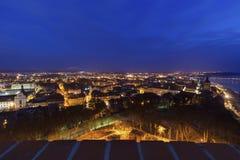 Old town of Grudziadz at night. Grudziadz, Kuyavian-Pomeranian Voivodeship, Poland Stock Photo