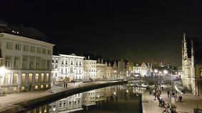 Old Town with Guild-Houses, Ghent Royalty Free Stock Images