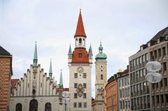 Old Town Hall (Altes Rathaus) Marienplatz in Munich, Germany Stock Images