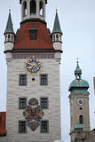 Old Town Hall (Altes Rathaus)Marienplatz in Munich, Germany Stock Image