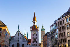 The old town hall architecture in Munich Stock Photos
