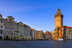 Old Town Hall with Astronomical Clock, Prague Stock Images