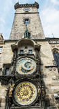 Old town hall with astronomical clock in Prague, cultural herita Royalty Free Stock Photography