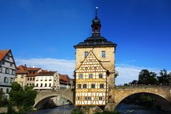 Old Town Hall Bamberg. Old Town Hall in Bamberg Germany Royalty Free Stock Image