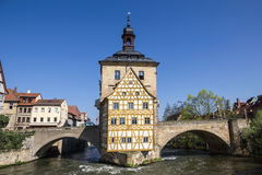 Old Town Hall in Bamberg, Germany. Royalty Free Stock Image