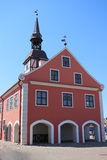 Old town hall at Bauska in Latvia Stock Photo
