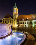 Old Town Hall in Bratislava, Slovakia at night Stock Image
