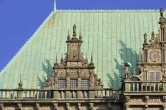 The old town hall of Bremen, Germany. The old town hall of Bremen, Weser-renaissance. Located in the north of Germany Royalty Free Stock Image