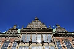 The old town hall of Bremen, Germany. The old town hall of Bremen, Weser-renaissance. Located in the north of Germany Royalty Free Stock Photography