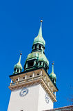 Old Town Hall Brno Tower Closeup Royalty Free Stock Photo