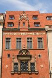 Old Town Hall with capital of the realm inscription, Prague. Old Town Hall with Praga Caput Regni – the capital of the realm inscription on beautiful royalty free stock images
