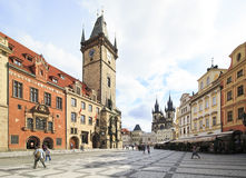 Old Town Hall in centre of Prague. Royalty Free Stock Photography