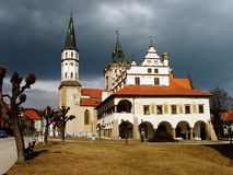 Old Town Hall and church Royalty Free Stock Image