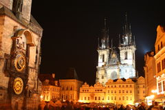 Old town hall with church of our lady before Tyn, Prague, Czech Republic Royalty Free Stock Photo