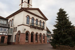 Old town hall in city. Seligenstadt Rhein Royalty Free Stock Image