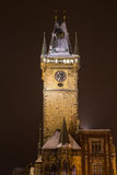 Old Town Hall Clock Tower in Prague Stock Images