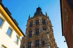 Old town hall in Cologne. Tower of the historic town hall in Cologne, Germany Royalty Free Stock Images
