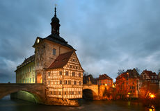 The Old Town Hall in dusk. Bamberg. stock image